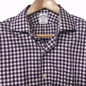 BROOKS BROTHERS 15.5 - 4/5 Button Down  Shirt